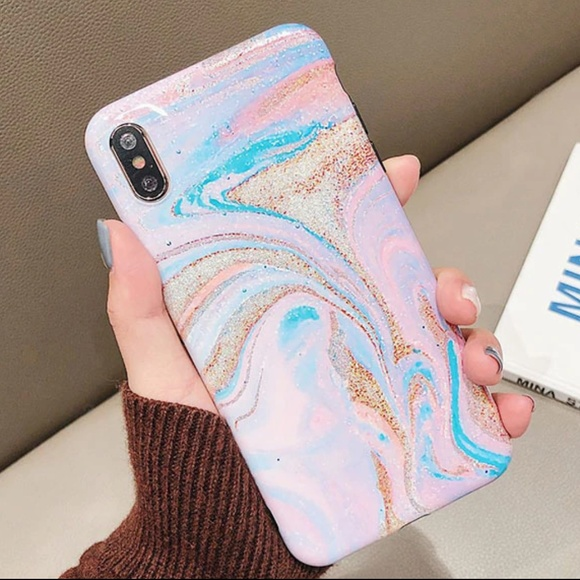 Accessories - NEW iPhone 7+/8+ Pastel Marble Swirl Case